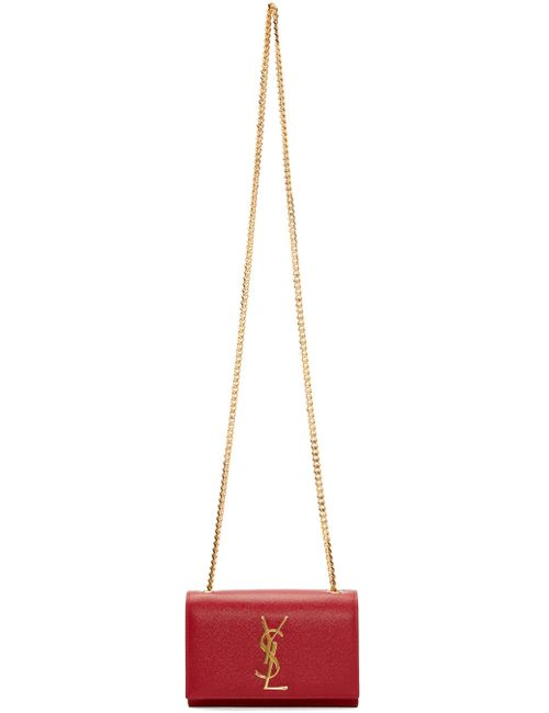 Saint Laurent | 6422 Rouge Vif Red Small Monogram Shoulder Bag