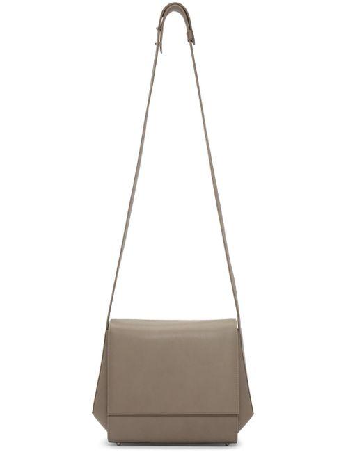 TSATSAS | Серебристый Grey Leather Turin Shoulder Bag