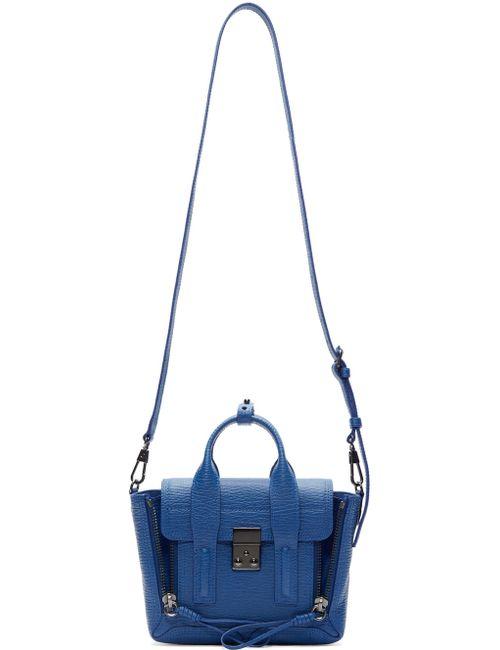 3.1 Phillip Lim | Cerulean Blue And Black Mini Pashli Satchel