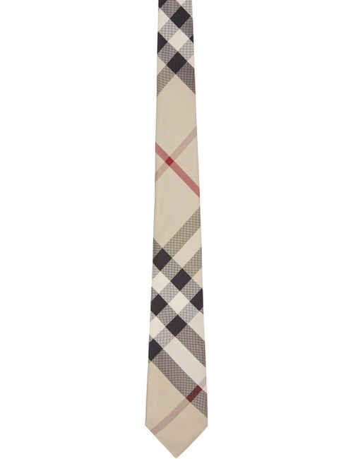 Burberry London | Tan Classic Check Silk Tie