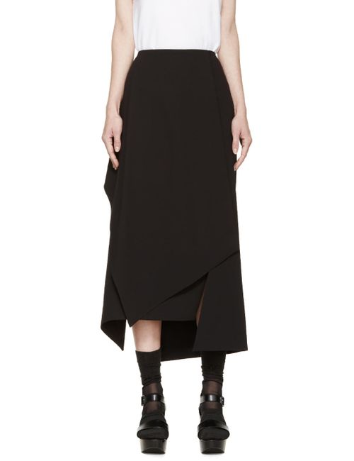 Enfold | Черный Black Asymmetric Skirt