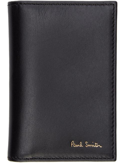 Paul Smith | Серый Black Leather Bifold Wallet