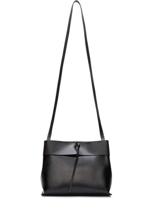 KARA | Чёрный Leather Tie-Close Bag