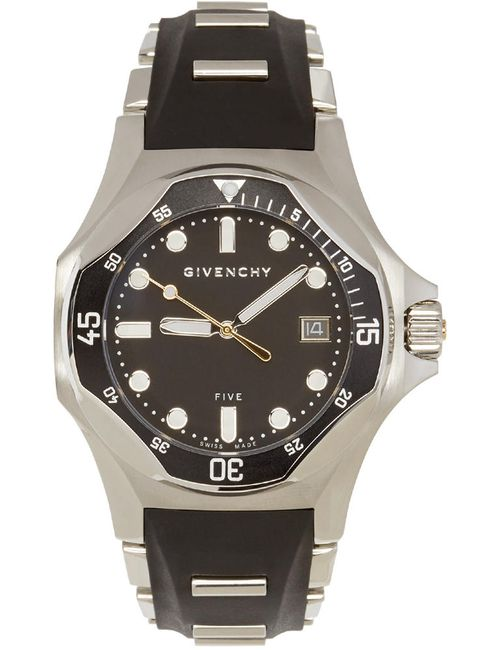 Givenchy   Чёрный Silver And Five Shark Watch