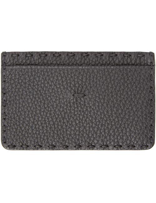Fendi | Чёрный Black Selleria Leather Card Holder