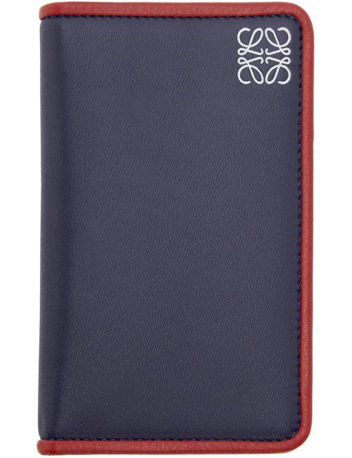 Loewe | Navy Leather Card Holder