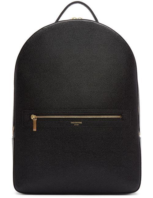 Thom Browne | Чёрный Black Leather Backpack