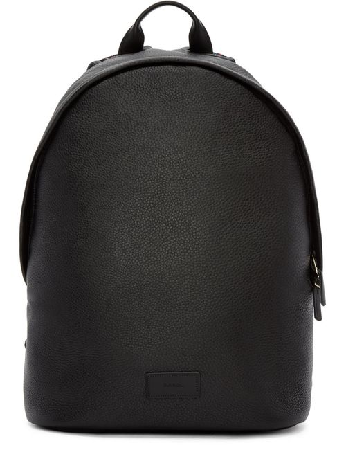 Paul Smith | Чёрный Black Leather Backpack
