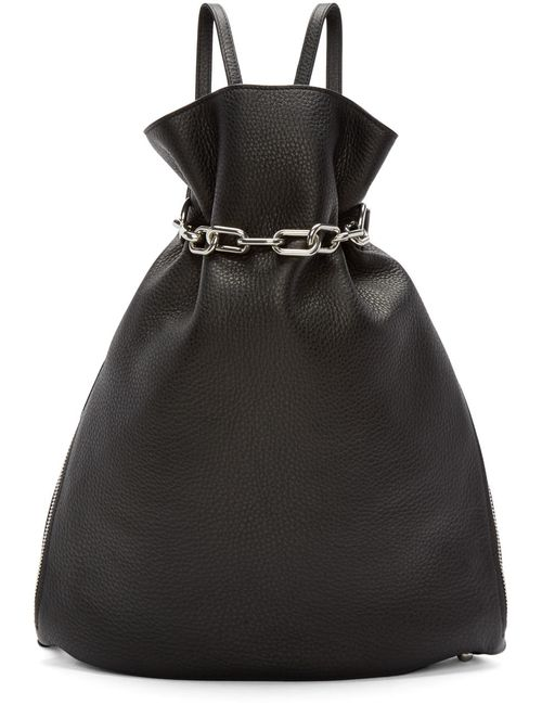 Alexander Wang | Чёрный Black Leather Attica Gymsack Backpack