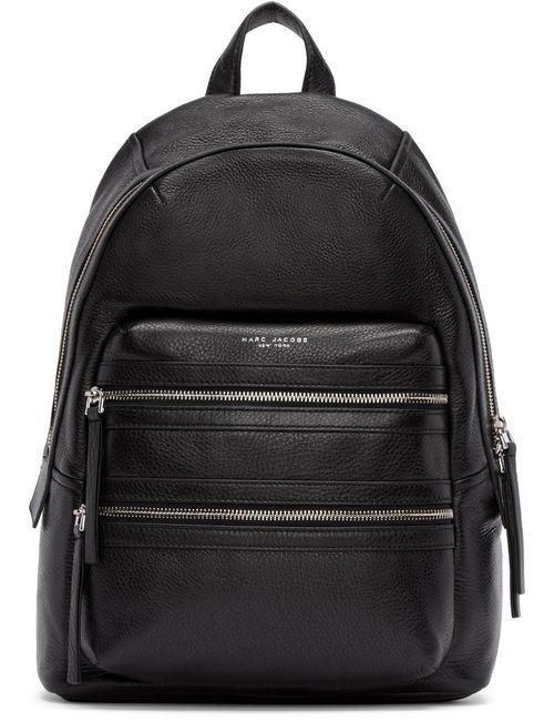 Marc Jacobs | Черный Black Leather Large Biker Backpack