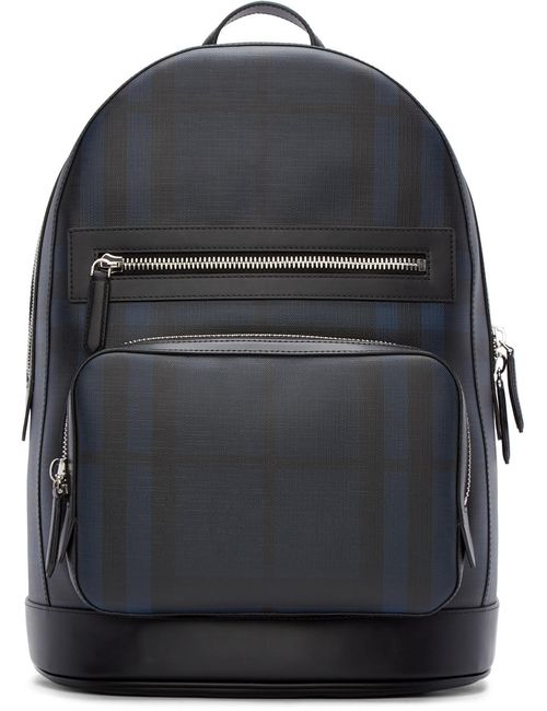 Burberry London | Чёрный Black And Blue Check Marden Backpack