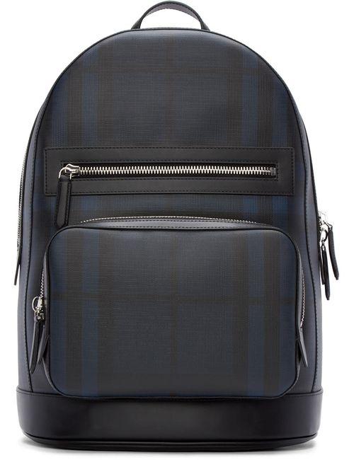 Burberry London | Черный Black And Blue Check Marden Backpack