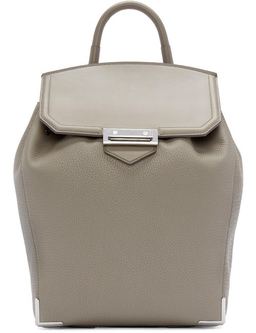 Alexander Wang | 060 Oyster Grey Leather Prisma Backpack