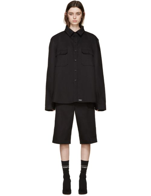 VETEMENTS | Чёрный Twill Double Shirt