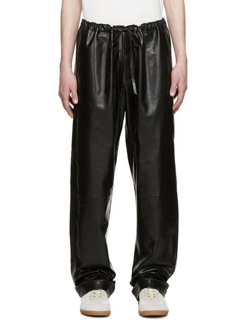 Loewe | Серый Black Leather Trousers