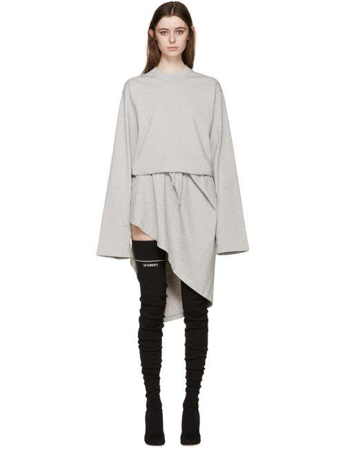 VETEMENTS | Женское Серый Jersey Wrap Dress