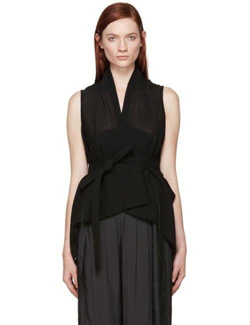 Ann Demeulemeester | Чёрный Black Milana Wrap Vest