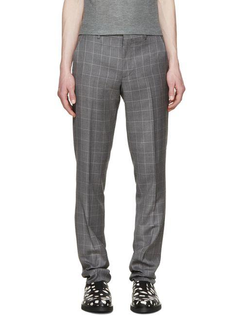 PAUL SMITH LONDON | Серый Grey Windowpane Check Trousers