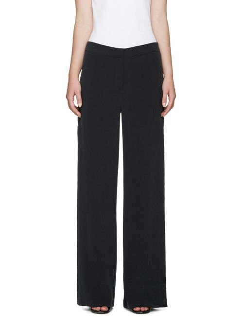 NOMIA | Slate Black Crinkle Vented Trousers