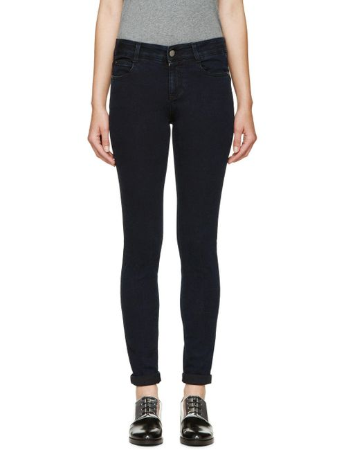 Stella Mccartney | Чёрный Indigo The Skinny Long Jeans