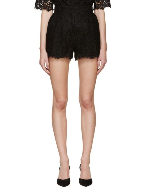 Dolce & Gabbana | N0000 Nero Dolce And Gabbana Black Lace Shorts