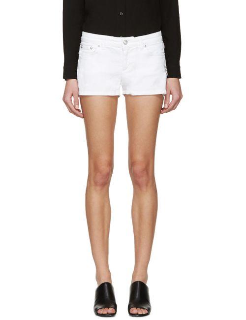 Versus | Белый White Denim Safety Pin Shorts