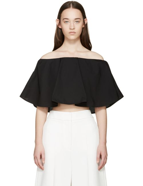 ROSETTA GETTY | Чёрный Ssense Exclusive Off-The-Shoulder Circle Top