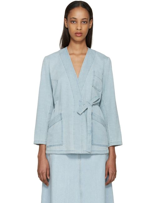 MM6 by Maison Margiela | Синий Mm6 Maison Margiela Blue Denim Tie Jacket