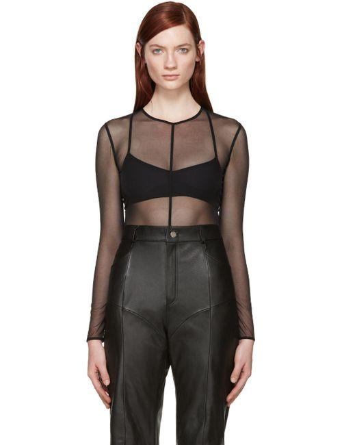 Ann Demeulemeester | Чёрный Black Mesh La Fille Do Edition Bodysuit