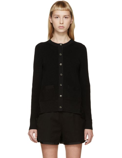 Sacai | Черный Black Star Lace Cardigan
