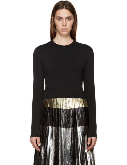 Proenza Schouler | Чёрный Black Cropped Knit Sweater