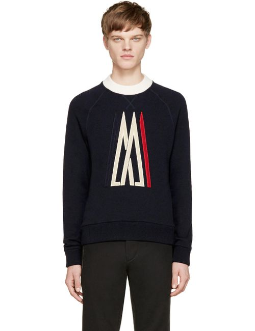 Moncler | Navy Knit Ami Logo Sweater