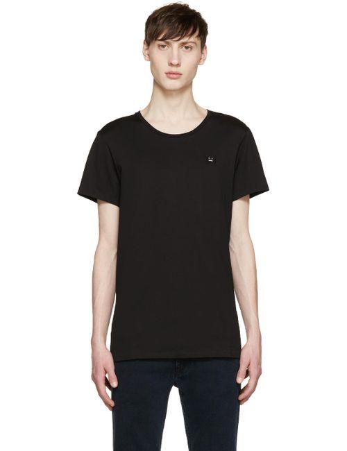 Acne | Чёрный Standard Face T-Shirt