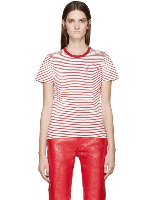 Marc Jacobs | Белый Red And White Striped T-Shirt