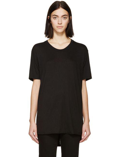 Raquel Allegra | Чёрный Jersey T-Shirt