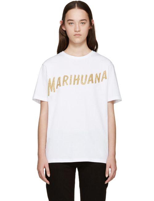 PALM ANGELS | Белый Marihuana T-Shirt