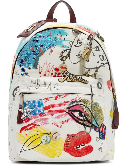 Marc Jacobs | Ecru Canvas Collage Backpack