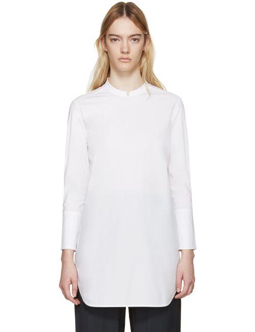 STUDIO NICHOLSON | Белый White Poplin Giulia Blouse