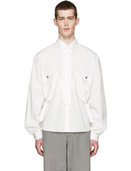 J.W. Anderson | Белый J.W.Anderson White Cinch Strap Shirt