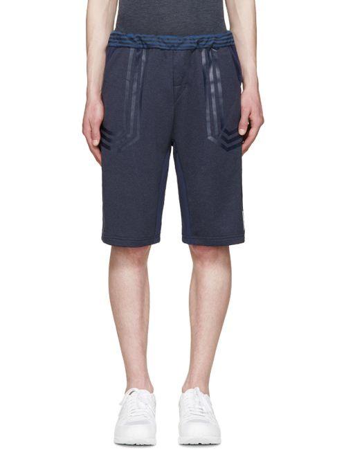 adidas x White Mountaineering | Navy Colorblocked Lounge Shorts