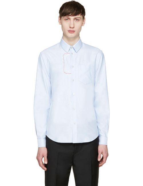 Carven | Ciel 505 Blue Embroidered Shirt