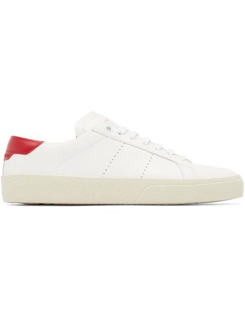 Saint Laurent | Белый White Court Classic Sneakers