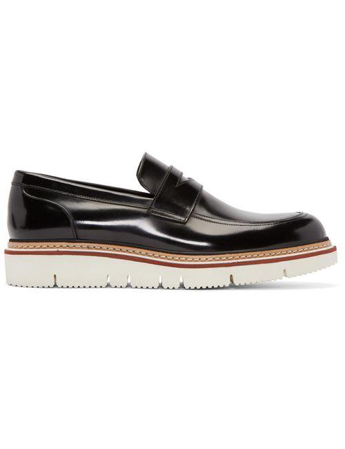 Jimmy Choo | Черный Leather Leon Penny Loafers
