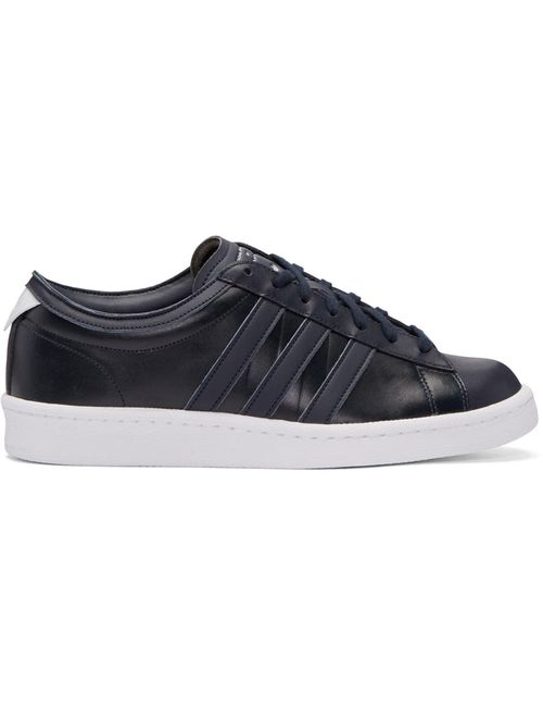 ADIDAS ORIGINALS BY WHITE MOUNTAINEERING | Night Navy Black Leather Spgr Edition Sneakers