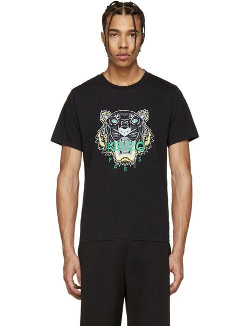 Kenzo | Мужское Чёрный Black Tiger Logo T-Shirt