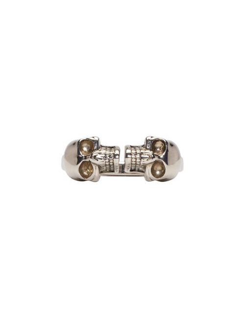 Alexander McQueen | Серебристый Silver Twin Skull Ring