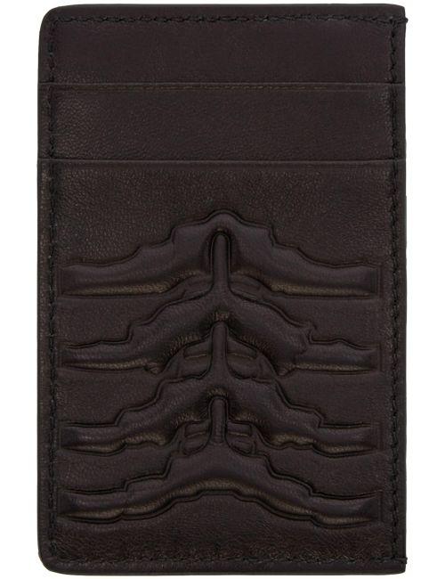Alexander McQueen | Черный Black Ribcage Card Holder
