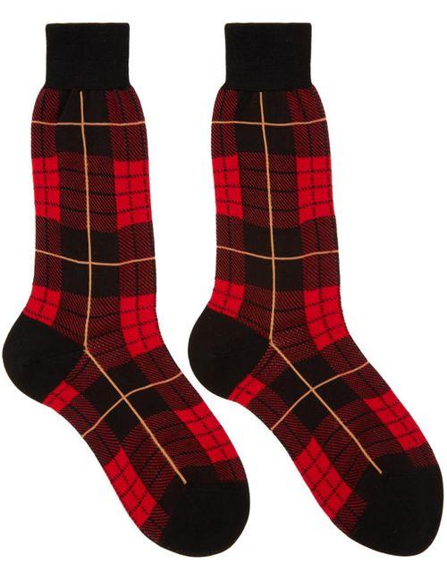 Alexander McQueen | Черный Red Plaid Socks