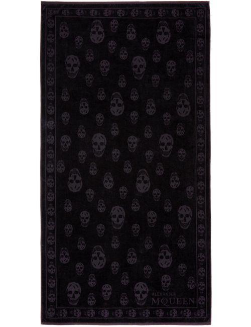 Alexander McQueen | Черный Black Tonal Skulls Towel