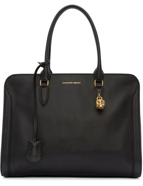 Alexander McQueen | Золотой Black Medium Padlock Tote
